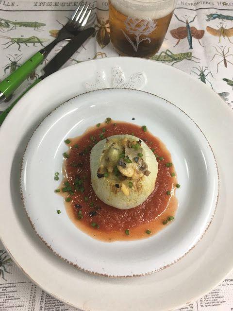 Las recetas de Martuka: Cebollas Rellenas De Carne Y Champiñones