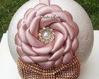 Tiara Luxo Flor Rose c/ laço strass