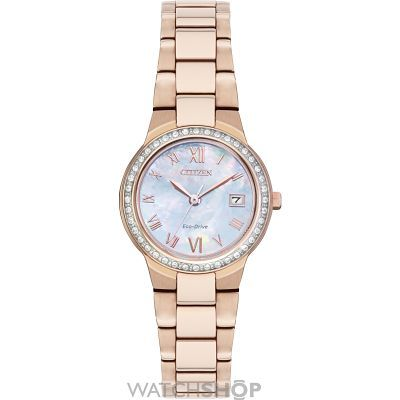 Ladies Citizen Silhouette Crystal Eco-Drive Watch EW1993-50D
