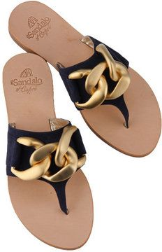 ShopStyle(ショップスタイル): Ilsandalo Suede Chain Sandal