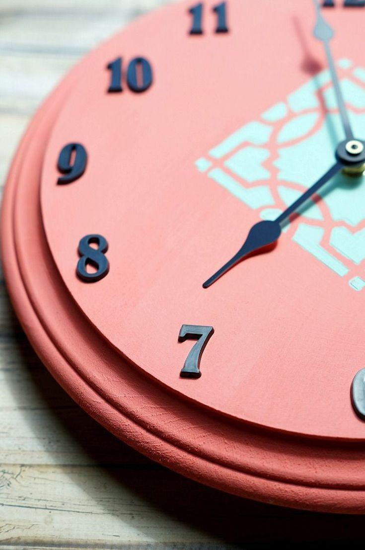 DIY Stenciled Wall Clock