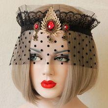 Черное кружево маска Хэллоуин сексуальная королева венецианский маскарад карнавал готический королева вампиров Маска Элегантный Сексуальный Tiara Косплей Корона(China (Mainland))