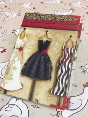 Kit libreta Vintage con patrón incluido en La Gallina Paperina   Portaldelabores.com   Portal de labores