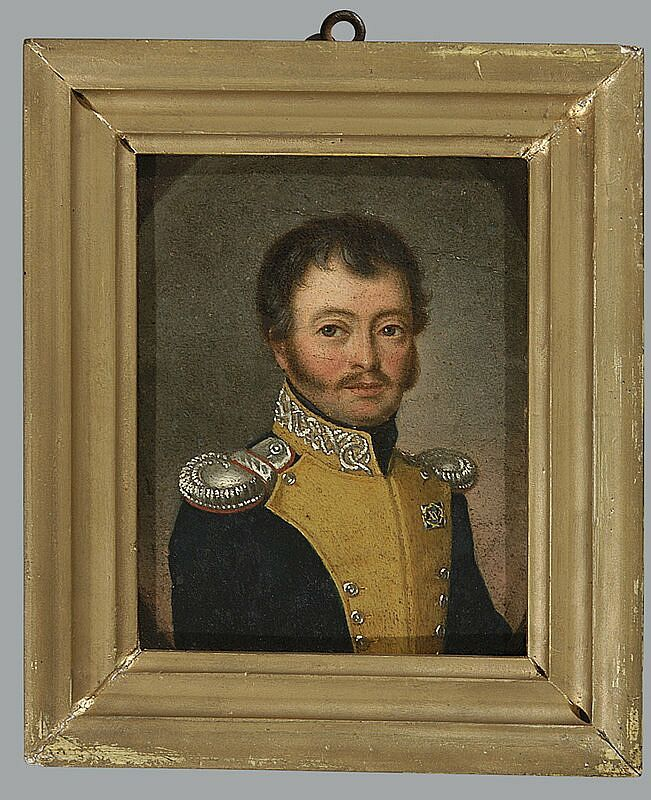 Captain of Application School or Cadets Corps unknown painter ca 1820 National Museum of Warsaw