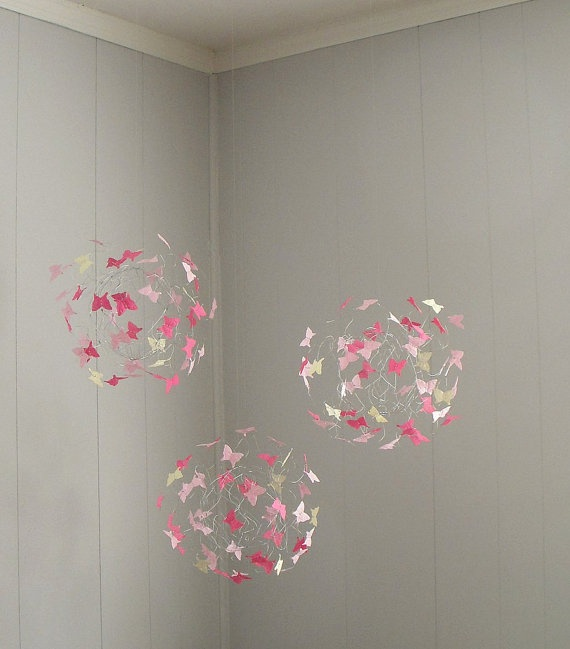 Butterfly Mobiles Nursery Decor Childrens Mobiles by ButterflyOrbs, $89.00