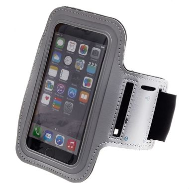 "Apple iPhone 6 (4.7"""") - Athletic Runner Armband Silver"