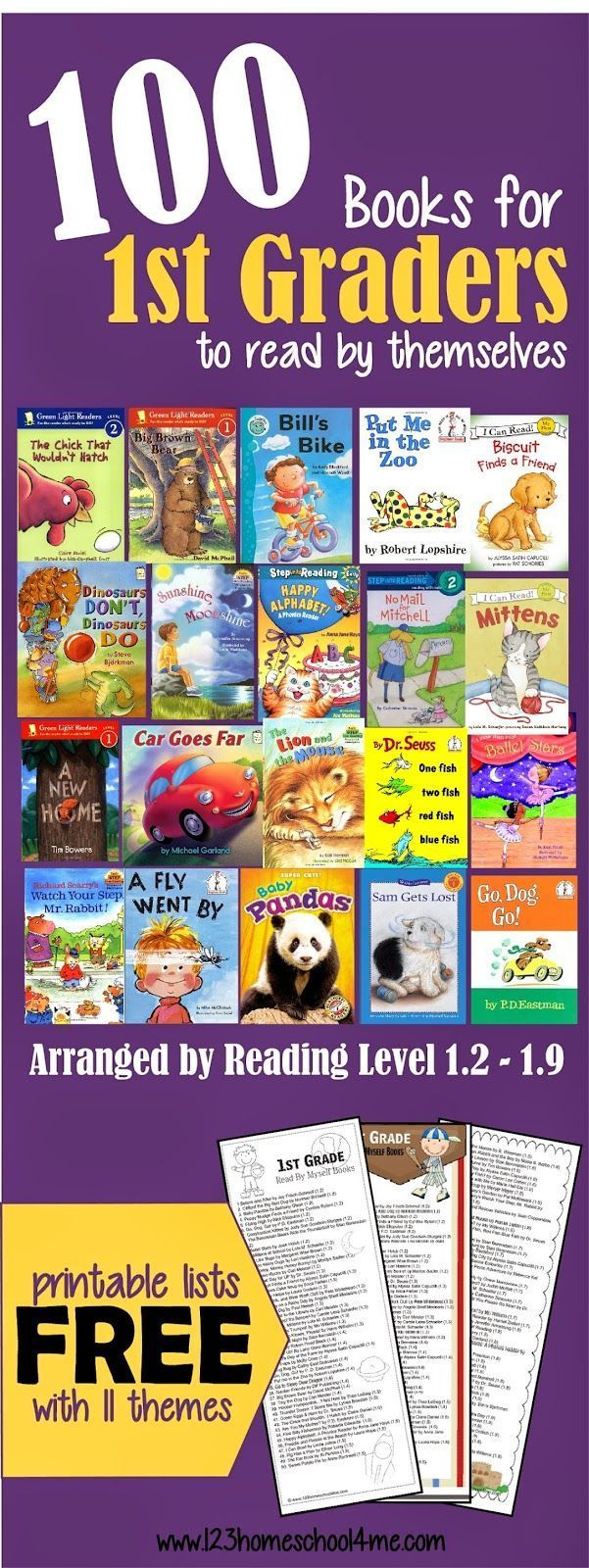 Here is a wonderful list of books for 1st grade kids to read themselves.