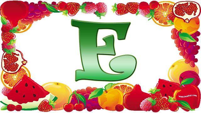 definisi buah dari huruf e