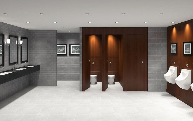 #brown #wood effect #washroom with solid surface vanity and under counter sinks. #countryclub look.