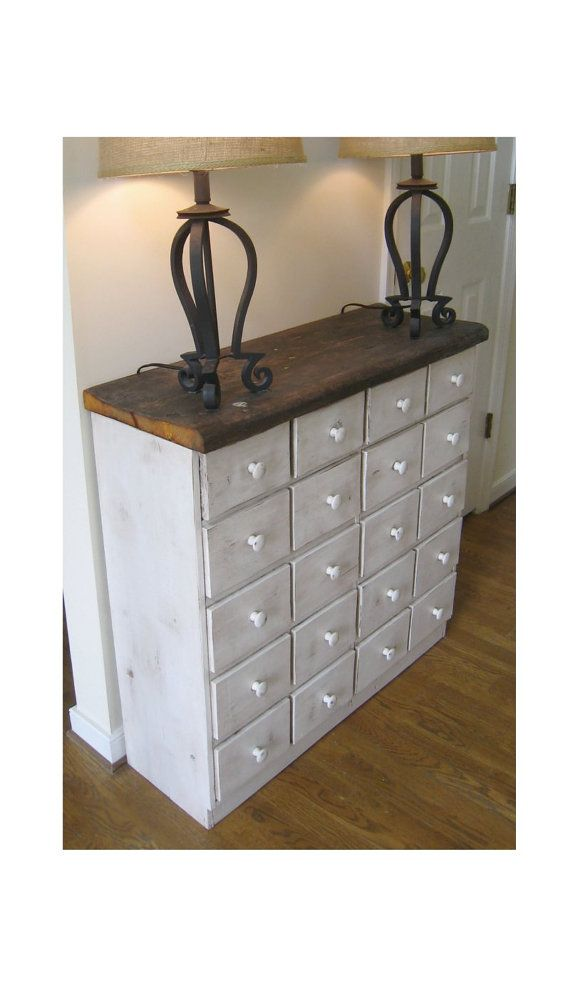 Apothecary Cabinet In Aged White By SiGAHdesigns On Etsy, $275.00