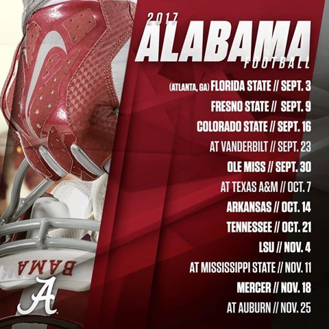 Best 25 crimson tide football schedule ideas on pinterest 2017 alabama crimson tide football schedule sciox Image collections