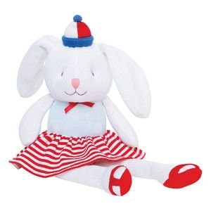 Large nautical sailor knitted bunny rabbit toy