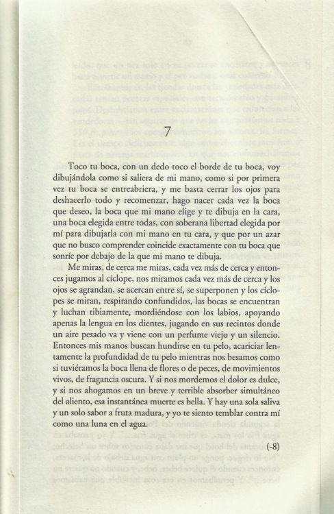 "Page from ""Rayuela"" (Julio Cortazar, 1963)."