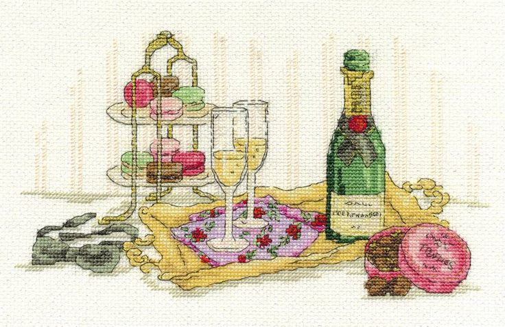 Indulgence Cross Stitch Kit, Designed by Maria Diaz - £18.20 on Past Impressions | from DMC