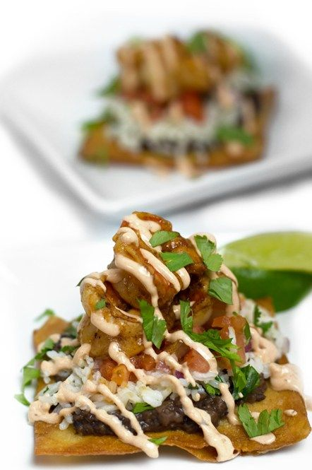 You will absolutely LOVE this #easy Chipotle Lime Shrimp Tostadas recipe.