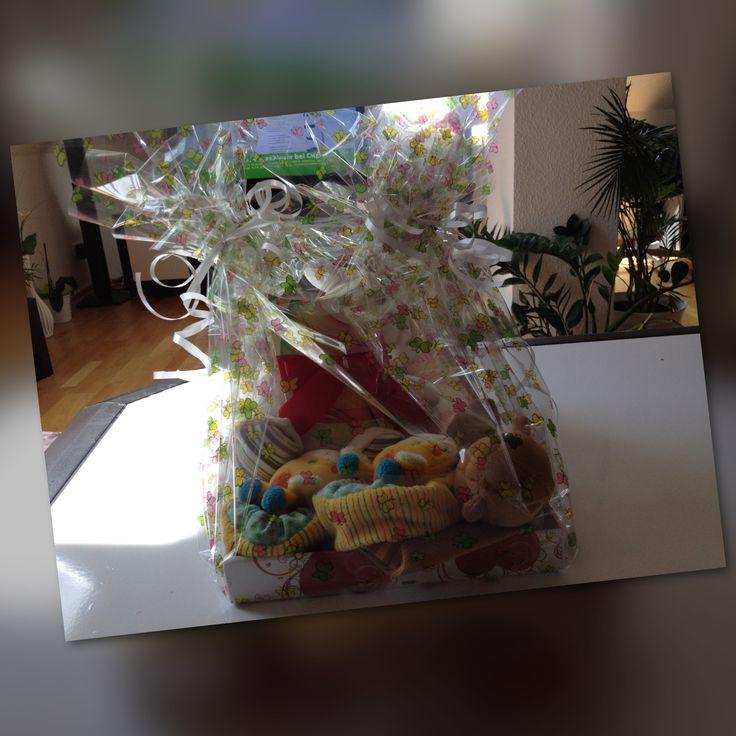 Geschenk zur Geburt  Baby Geschenk  Selbstgebasteltes