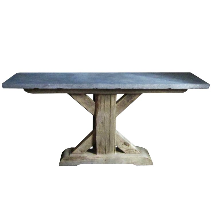 Belgian bluestone console table 19th century base modern for How to make a sturdy table base
