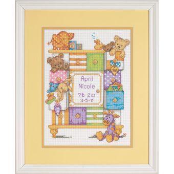 Birth Record Baby Drawers Cross Stitch | Hobbycraft