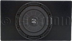 """Brand New Kicker 10TCVT82 Compact Single 8"""" 400 Watts Peak / 200 Watts RMS 2-Ohm Comp VT Loaded Car Audio Subwoofer with Slim Enclosure Box and Strong Spring-Loaded Terminals by Kicker. $104.00. Brand New Kicker 10TCVT82  Compact Single 8"""" 400 Watts Peak / 200 Watts RMS 2-Ohm Comp VT Loaded Car Audio Subwoofer with Slim Enclosure Box and Strong Spring-Loaded Terminals Features:      Kicker 10TCVT82 8""""CVT Car Audio Subwoofer     Peak Power: 400 Watts     RMS Po..."""