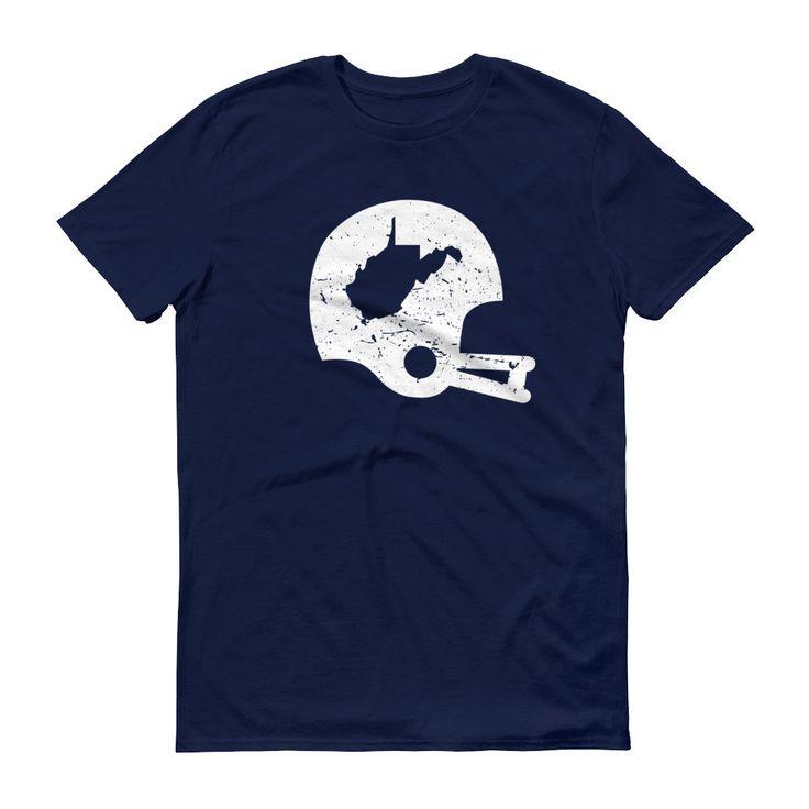 Retro WV Football Helmet Short sleeve men's/unisex t-shirt