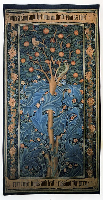 Nice article on Morris' Woodpecker Tapestry, 1885. Housed in the William Morris Gallery in Walthamstow, London. http://www.wmgallery.org.uk/home