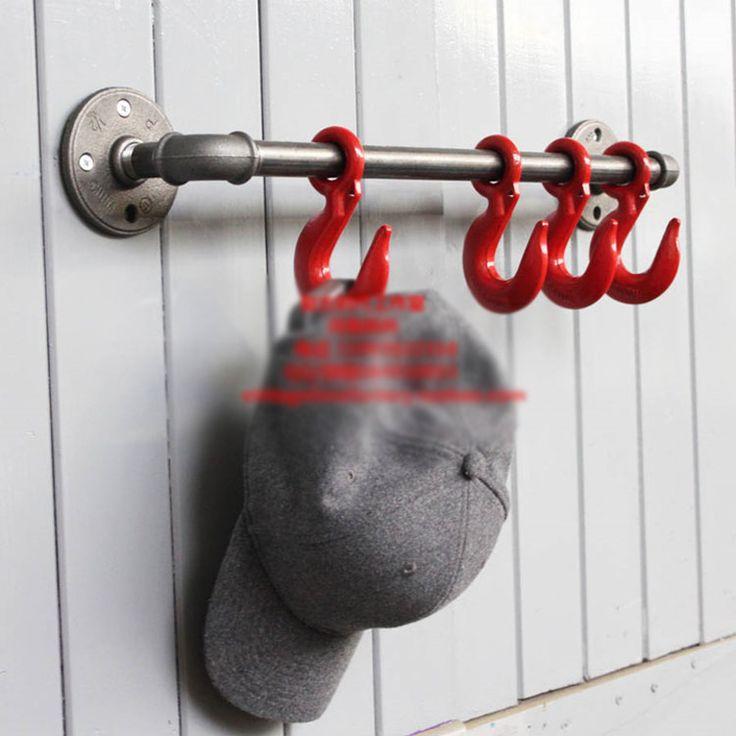 ヴィンテージ重い工業ロフトパイプ壁フックインテリアデコレーション浴室インテリアスチームパンクの装飾壁フック帽子ラックホルダーコートハンガー(China (Mainland))