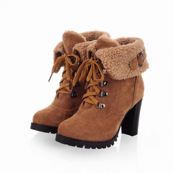 winter boots 2013 New hot sale Fashion Women Ankle Boots High Heels Lace up  Snow Boots Platform Pumps shoe - HighHeelsSale