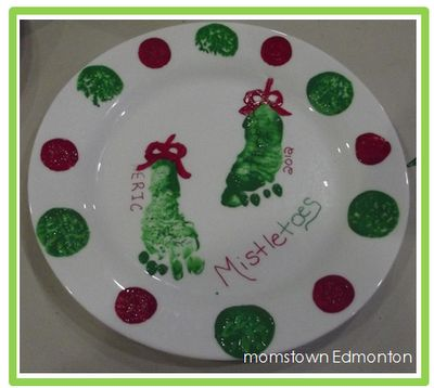Christmas Footprint Plate
