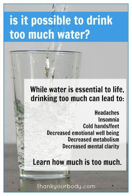 Are you drinking too much water? Do you carry around a water bottle to drink throughout the day? Do you think drinking a tall glass of water...