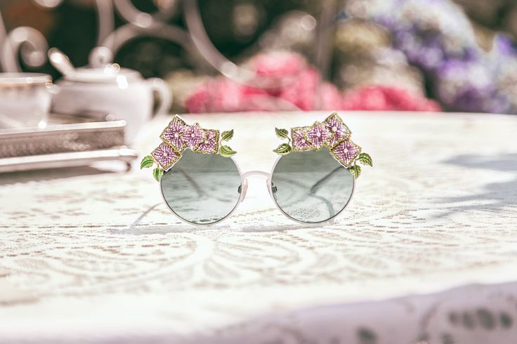 Romantic petals characterise the new #DGOrtensia sunglasses in a delicate and fanciful frame #DGEyewear #DGWomen