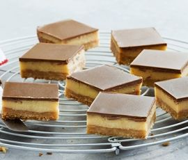 Perfect Milk Chocolate Caramel Slice: A gorgeous crunchy base with that soft sweet caramel and a crisp chocolate coating. Heaven. http://www.bakers-corner.com.au/recipes/slices/caramel/milk-chocolate-caramel-slice/