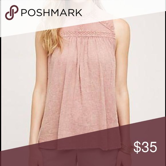 Eri + Ali Rose Sleeveless Tunic Anthropologie Bought from Anthropologie last year. Made by Eri and Ali. Dusty rose colored flowy tunic/tank top.  Size Large.  Worn a couple of times and in great condition. 100% cotton.  Machine wash cold, tumble dry low. Anthropologie Tops Tank Tops