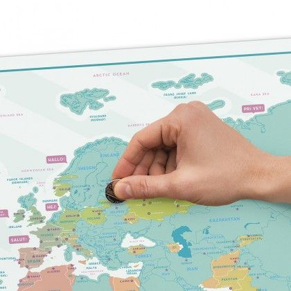 Carte du Monde à Gratter Hello 82,5 x 59,4 cm  #voyage #travel #mappemonde #carte #world
