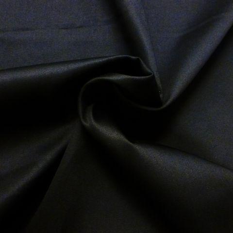 Katoen stretch satijn zwart