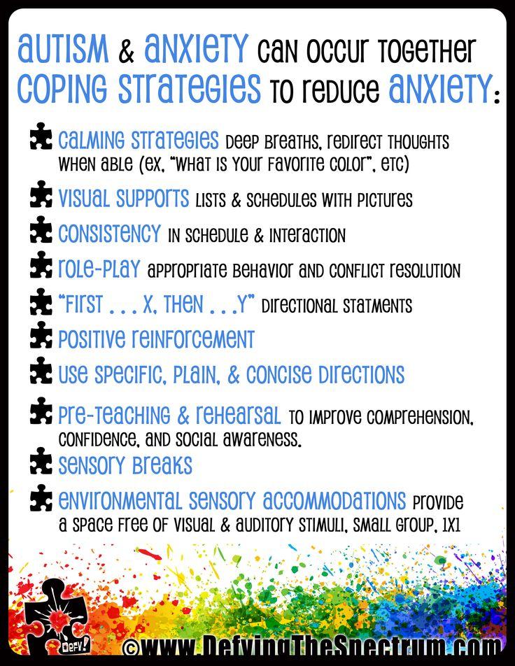 Free Autism Awareness Printable Autism & Anxiety                                                                                                                                                     More