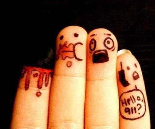 Funny finger art - Funny Pictures & Funny jokes | Jokideo