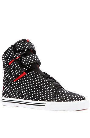 SUPRA Sneaker Society in Black and White Polka Dot