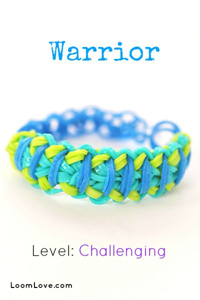 How to Make the Warrior Bracelet - Rainbow Loom video tutorial