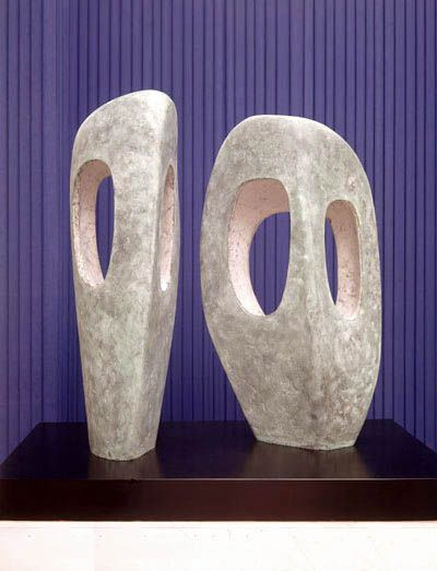 Barbara Hepworth Two Forms in Echelon, Bronze, 1961