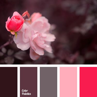 """dusty"" pink, brown, brown shades, canonical aubergine, color combination for wedding, firebrick color, pastel pink, pink shades, Red Color Palettes, shades of pastel color, soft rose shades."