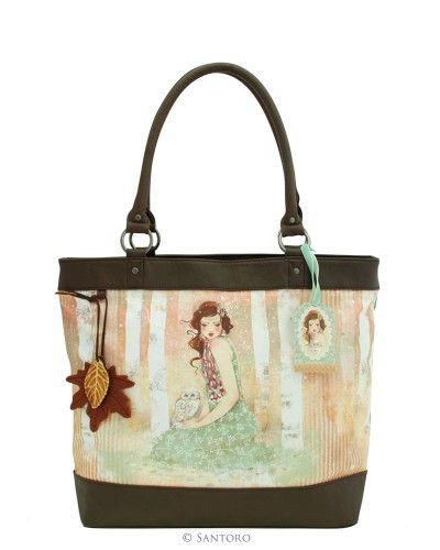Handbag - Mademoiselle Snow, Santoro's Willow