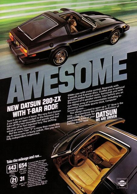 Datsun 280ZX AWESOME Indeed ;-) https://plus.google.com/+JohnPruittMotorCompanyMurrayville/posts