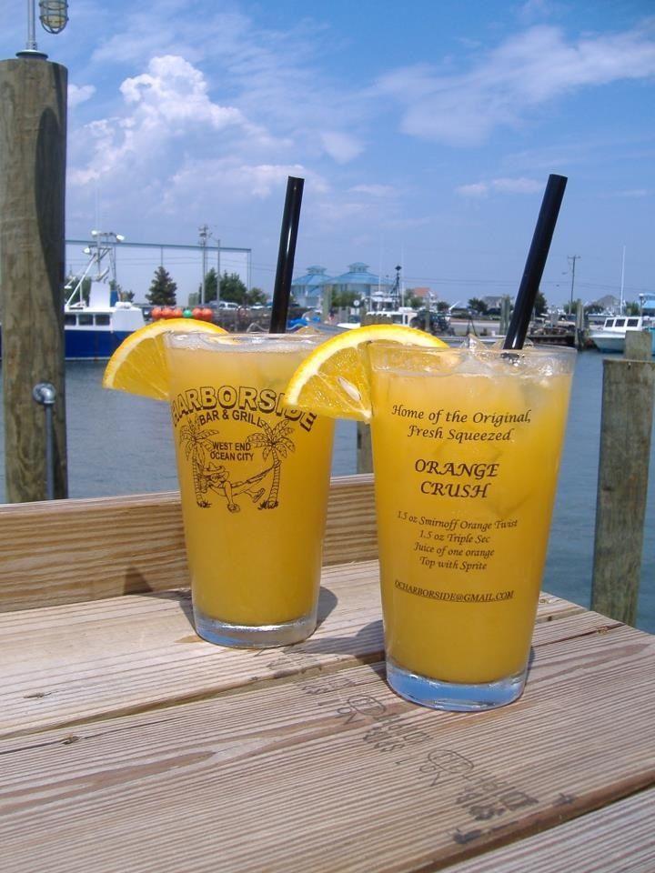 Orange Crush recipe from Harborside Grill in West Ocean City, MD.