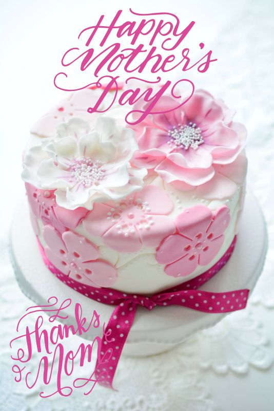 mother´s day cake, flower cake, pink cake, rose cake, sugarflower