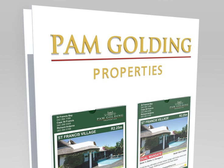 Proposed 3D lettering for Pam Golding - Designed by GreenCherry
