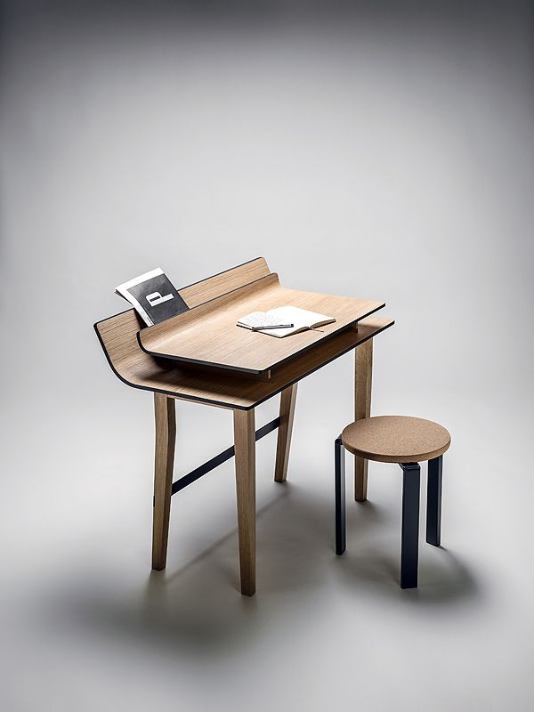 "Lucie Koldova's new desk resembles sheets of paper ""waiting for their first sentences""."