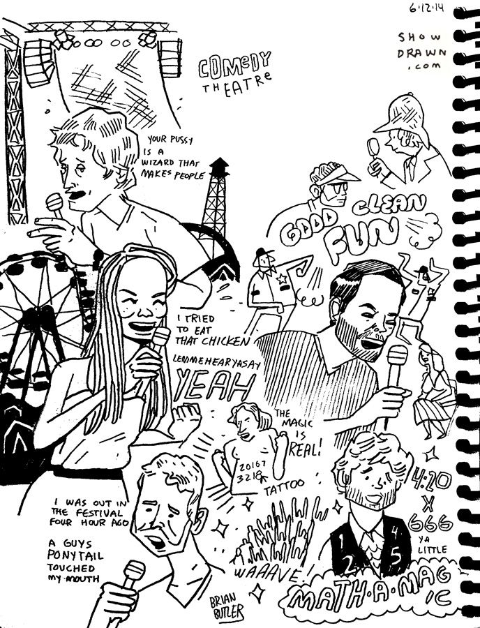"""LOLs at Comedy Theatre with Taran Killam and Friends"" by Brian Butler Show Drawn"