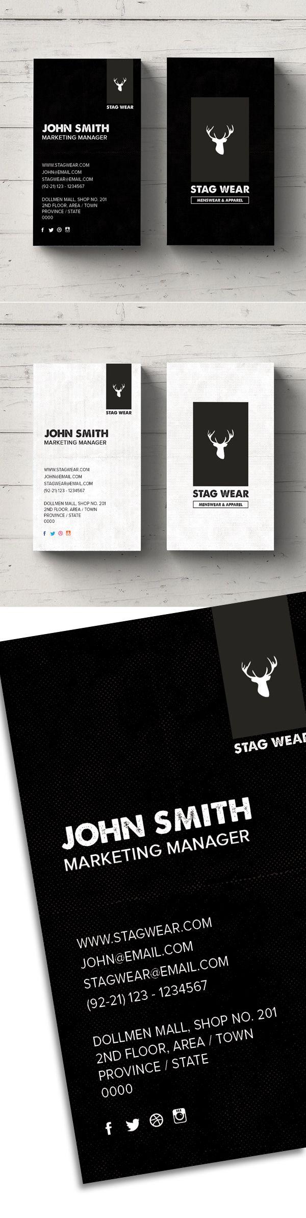 Free Vertical Business Card PSD Template #vertical #black #businesscard #freebusinesscard #freepsdfiles #freebie #minimaldesign #psdtemplate