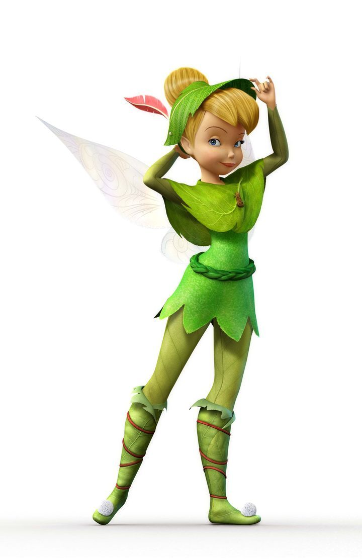 Tinker Bell dressed like Peter Pan