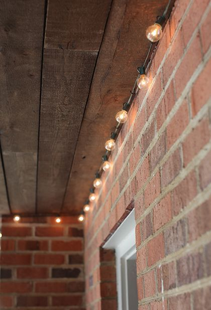 These kind of string lights are usually hanging all over the place. This is much neater and looks way better.